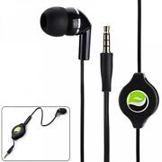 Hifi Sound Retractable Headset Mono Hands-free Earphone Mic For Phones And Tablets