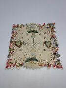 Elaborate Victorian Valentine Card Paper Lace And Hearts Butterfly 1850s Vintage