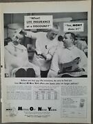 1960s Mony Mutual Life Insurance Of Ny Barber Shop Barber Chair Vintage Ad
