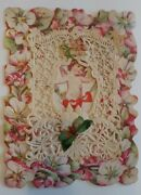 Vintage/antique Ornate Victorian Valentine From Love's Captive Paper Lace Card