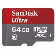 Sandisk 64gb Micro-sd Sdxc Memory Card High Speed Class 10 Uhs-1 For Smartphones