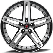 22 Inch Staggered 22x9 + 22x10.5 Axe Ex20 Machined Face 5x120 +20 Front +25 Rear
