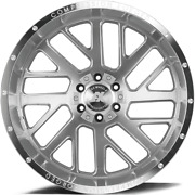 22 Inch 22x10 Axe Ax2.1 Silver Brushed Wheels Rims 8x180 -19