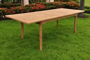 11-piece Outdoor Teak Dining Set 94 Rectangle Table 10 Armless Chairs Devon