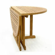 5-piece Outdoor Teak Dining Set 48 Butterfly Table 4 Armless Chairs Devon