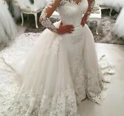Mermaid Wedding Dresses With Detachable Skirt Backless Court Train Crystal Gowns