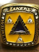 Lakers Kobe Paperweight Rings 20022001 20002009 2010 Finals Tickets 3peat Rare