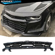 Fits 16-21 Chevy Camaro Zl1 1le Style Front Bumper Upper Grille Black - Pp