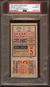 1937 World Series Ticket Stub New York Yankees At Giants Game 5 Psa Authentic