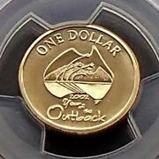 2002 Australia One 1 Dollar Coin - Year Of The Outback - Pcgs Graded Ms69
