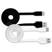 1-100 Lot Micro Usb Flat Noodle Cable For Samsung Galaxy S S2 S3 S4 S5 S6 S7