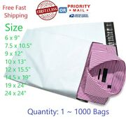 Poly Mailers Plastic Envelopes Shipping Bags, First Class Or Priority Shipping