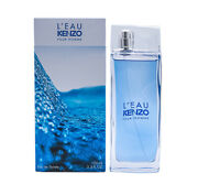 Land039eau Kenzo Pour Homme By Kenzo 3.4 Oz Edt Cologne For Men New In Box