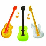 Guitars Ice Cube Trays 2 Pack Cool Jams Swizzle Stick Makes Drinks Protocol New