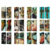 Michel Keck Religious Abstract Leather Book Wallet Case For Apple Iphone Phones