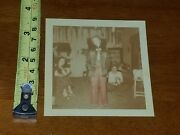 Rare Old Vintage Photo Halloween Party Costume Decorations 1952 2