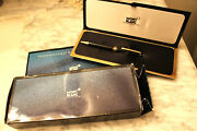 Rare Mont Blanc Toyota Service Ballpoint Pen Engraved W/ Case And Box