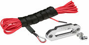 50 Ft Amsteel-blue Atv/utv Synthetic Cable/rope And Aluminum Hawse - Red