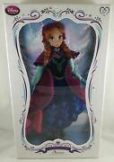 New Disney Store Frozen Anna 17 Limited Edition Collector Doll Le 5000 Sold Out