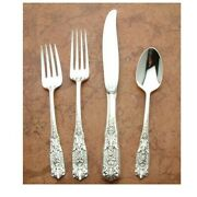 Milburn Rose By Westmoreland Sterling Silver 4pc Place Setting, Modern Blade