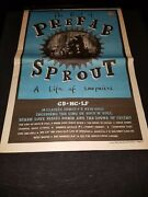 Prefab Sprout A Life Of Surprises Rare Original Uk Promo Poster Ad Framed