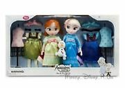 New Disney Store Animators Frozen Anna And Elsa Toy Doll Gift Set Toddler Olaf