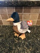 🦆 Rare, Original With Tag Errors Ty Beanie Babies Jake The Duck