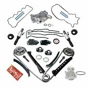 Timing Chain Kit Oil+water Pump Phasers Vvt Valves For 5.4l Ford Lincoln Triton
