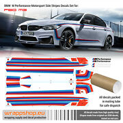Bmw M Performance Motorsport Side Stripes Decals Set For F80 M3 / F82 M4