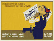 24 X 18 Reproduced Edelweiss Beer P. Schoenhofen Brewing Co. Chicago On Canvas