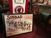 1891 Theatre Poster Chicago Opera House Sinbad Lithograph Watch Video