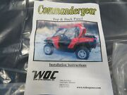 Ebm Wide Open Co Canam Commander 800 1000 Hard Roof And Sliding Back Window Panel