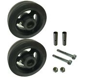 2 Caster Wheels Set 4 5 6 8 Rubber On Cast Iron Wheel Set With Bearing And Kit