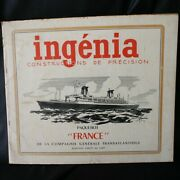 Cgt French Line Ss France Ingenia 1/400 Card Stock Model