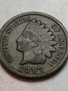 1897 P Indian Head Penny Its A Original Coin Not A Stock Picture Lot G04