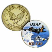 U.s. United States Air Force | Usaf Kc-130 | Military Gold Plated Challenge Coin