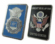 U.s. United States Air Force Usaf | Security Police | 1 Oz Silver Plated Bar