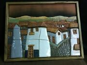 Estate Find. Fabian Alvarez Ecuador Clay Mountain Village Mosiac Wall Hanging