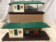 2 Lionel Freight Stations 256 And 257 For Parts Or Repair.