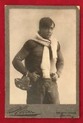1905 Strongheart Football Player Actor Robert Edeson Cabinet Photo Antique Early