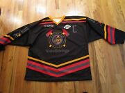 Alex Newhook Victoria Grizzlies Signed Game Worn Guns N Hoses Jersey