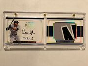 2017 National Treasures Aaron Judge Auto Patch All Rise Rpa Book Rare /10 O13