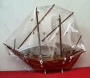 Sail Ship Detailed Wooden Model Nautical Decor Hand Crafted Sailboat Gifts Decor