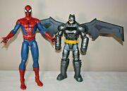 Spiderman And Batman Large Talking Action Figures 13 And 12 Tested Marvel Dc Com
