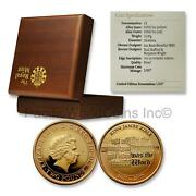 Great Britain 2011 King James Bible Two Pounds Gold Proof Coin W/ Box Sku 7174