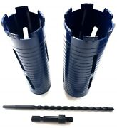 2 And 2.5 Dry Diamond Core Bit With Sds Max Shank Adapter And Pilot Bit