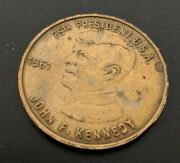 Rare Jfk 35th President Commemorative Coin Medal With Etched Kennedy Autograph
