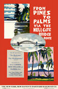 From Pines To Palms Via Hell Gate Bridge - Hartford Railroad 1924 Travel Poster