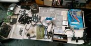 Assorted Large Lot Box Of Marine Outboard Parts New And Used Plus Decals