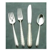 Silver Flutes By Towle Sterling Silver 4 Piece Place Setting Modern Blade Knife